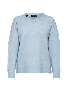 Selected - SlfLulu LS Knit O-Neck -villasekoiteneule - CASHMERE BLUE | Stockmann