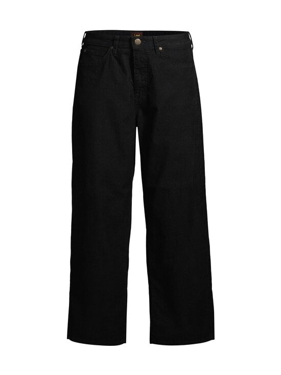 Lee - Wide Leg Corduroy -vakosamettihousut - BLACK | Stockmann - photo 1