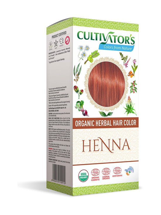 Cultivators - Organic Herbal Hair Color -kasviväri 100 g - HENNA | Stockmann - photo 1