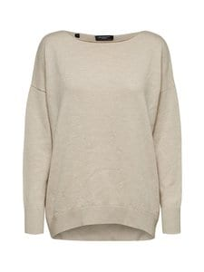 Selected - SlfNaya Cashmere LS Knit Boatneck -neule - 13-0905 TCX BIRCH | Stockmann