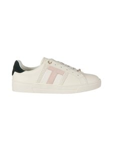 Ted Baker London - Ottolo Perforated T Detail Trainer -nahkasneakerit - IVORY | Stockmann