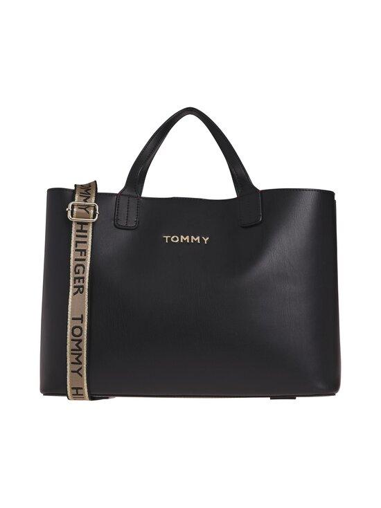 Tommy Hilfiger - Iconic Tommy Satchel -laukku - 0GJ BLACK | Stockmann - photo 1