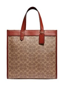 Coach - Field Tote In Signature Canvas With Horse And Carriage Print -laukku - B4SI0 B4/TAN TRUFFLE RUST | Stockmann