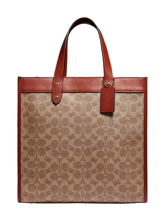 Coach - Field Tote In Signature Canvas With Horse And Carriage Print -laukku - B4SI0 B4/TAN TRUFFLE RUST | Stockmann - photo 1