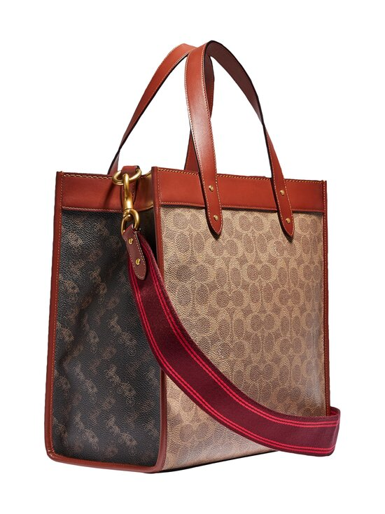Coach - Field Tote In Signature Canvas With Horse And Carriage Print -laukku - B4SI0 B4/TAN TRUFFLE RUST | Stockmann - photo 2