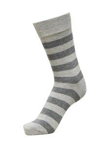 Selected - SlhMaco Big Stripe -sukat - LIGHT GREY MELANGE | Stockmann
