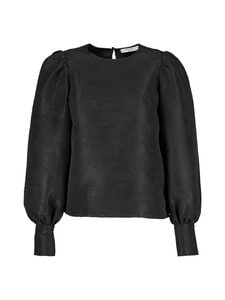 NA-KD - Structured Big Puff Sleeve -pusero - BLACK | Stockmann