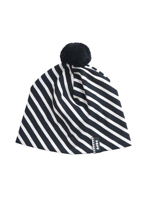Stripe Tassel Beanie -pipo