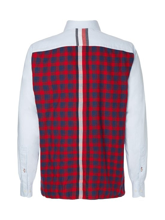Tommy Hilfiger - Relaxed Contrast Back Shirt -kauluspaita - 0QJ PRIMARY RED / MULTI | Stockmann - photo 2