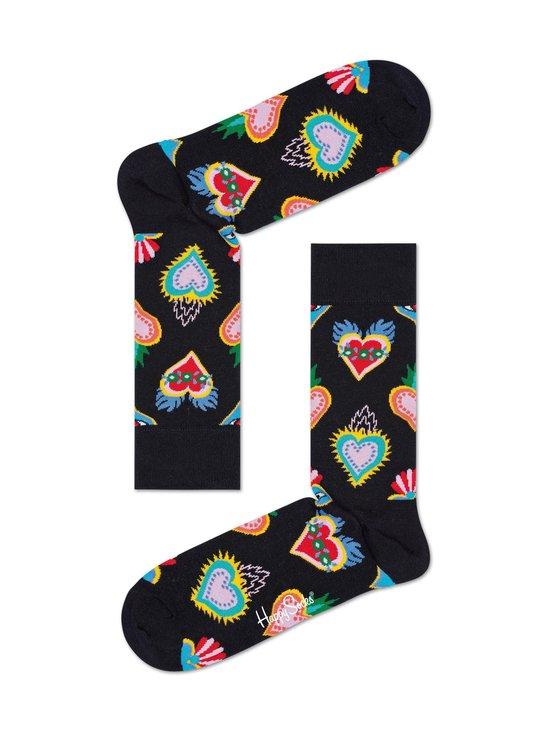 Happy Socks - Sacred Heart -sukat - 9300 BLACK | Stockmann - photo 1
