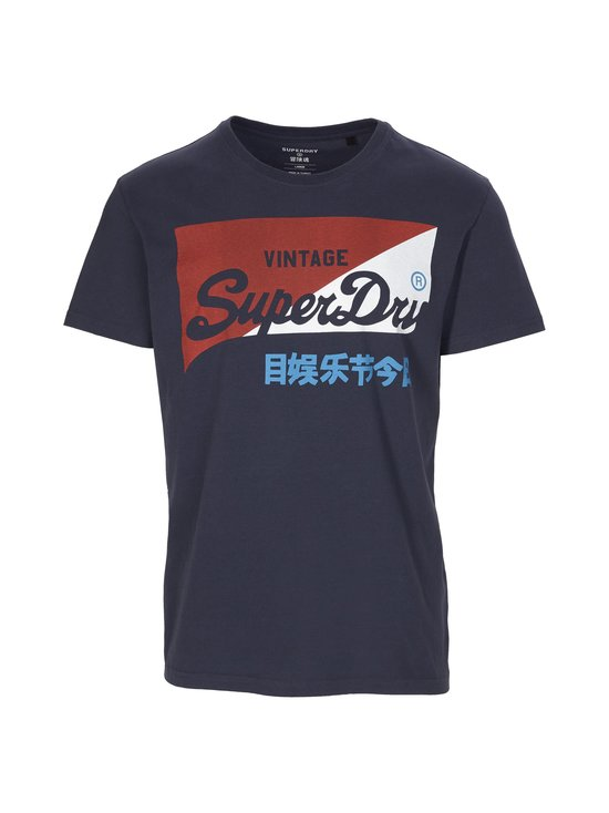 Superdry - Vintage Logo Primary T-Shirt -paita - 3RQ MONTAUK NAVY | Stockmann - photo 1