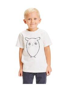 Knowledge Cotton Apparel - Flax Owl AOP Tee -paita - 1010 BRIGHT WHITE | Stockmann