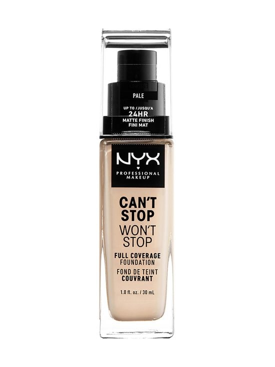 NYX Professional Makeup - Can't Stop Won't Stop Full Coverage Foundation -meikkivoide 30 ml - 01 PALE | Stockmann - photo 1