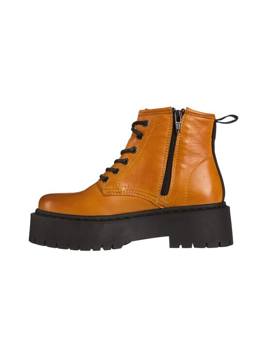 BIANCO - BiaDeb Lace-Up Short Boot -nahkanilkkurit - 720 MUSTARD | Stockmann - photo 2