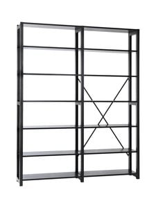 Lundia - Classic- kaksiosainen avohylly 30 x 208 x 164,5 cm - MUSTALAKATTU MÄNTY | Stockmann