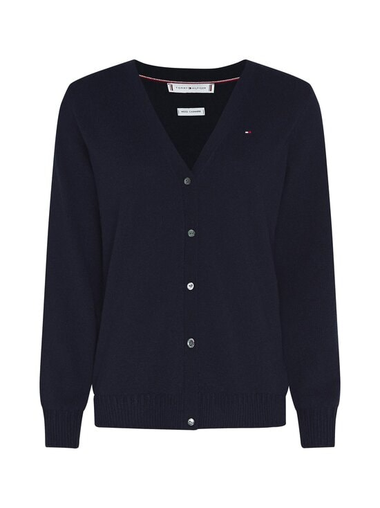Tommy Hilfiger - SP Wool Cashmere Cardigan -villaneuletakki - DW5 DESERT SKY | Stockmann - photo 1