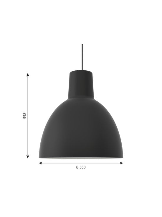 Louis Poulsen - Toldbod-riippuvalaisin Ø 55 cm - BLACK | Stockmann - photo 2
