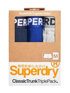 Superdry - Classic Trunk Triple -bokserit 3-pack - 4KB RICHEST NAVY/VIVID COBALT/GREYMARL | Stockmann