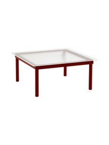 HAY - Kofi-pöytä 80 x 80 cm - BARN RED / CLEAR REEDED GLASS | Stockmann