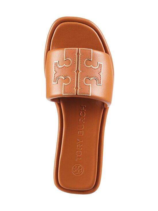Tory Burch - Double T Sport Slide Flat -sandaalit - 268 CAMELLO / GOLD | Stockmann - photo 2