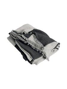 HAY - Crinkle Stripe Plaid -torkkupeitto 210 x 150 cm - GREY | Stockmann