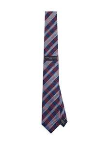 Tommy Hilfiger Tailored - Silk Large Check Tie -silkkisolmio - 09L RED/ NAVY/ LIGHT BLUE | Stockmann