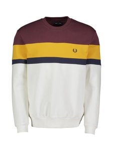 Fred Perry - Colourblock Sweatshirt -collegepaita - 799 MAHOGANY | Stockmann