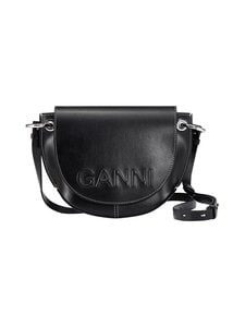 Ganni - Banner SHOULDER  -nahkalaukku - 099 BLACK | Stockmann