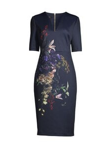Ted Baker London - Carvir Pomegranate Midi Bodycon Dress -mekko - 10 NAVY | Stockmann