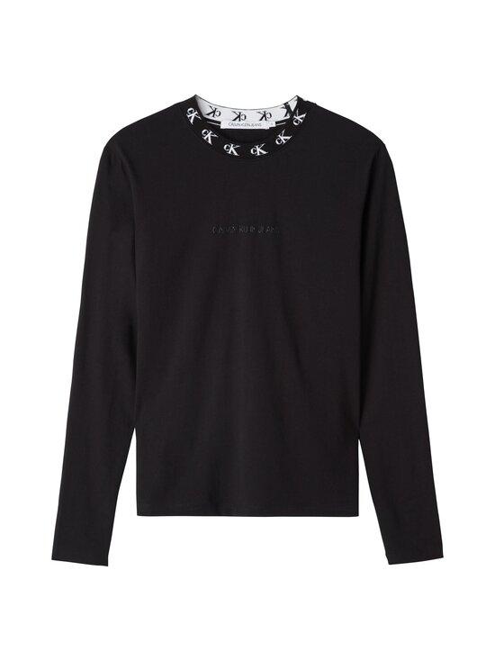 Calvin Klein Jeans - CK Logo Trim LS Tee -paita - BEH CK BLACK | Stockmann - photo 1