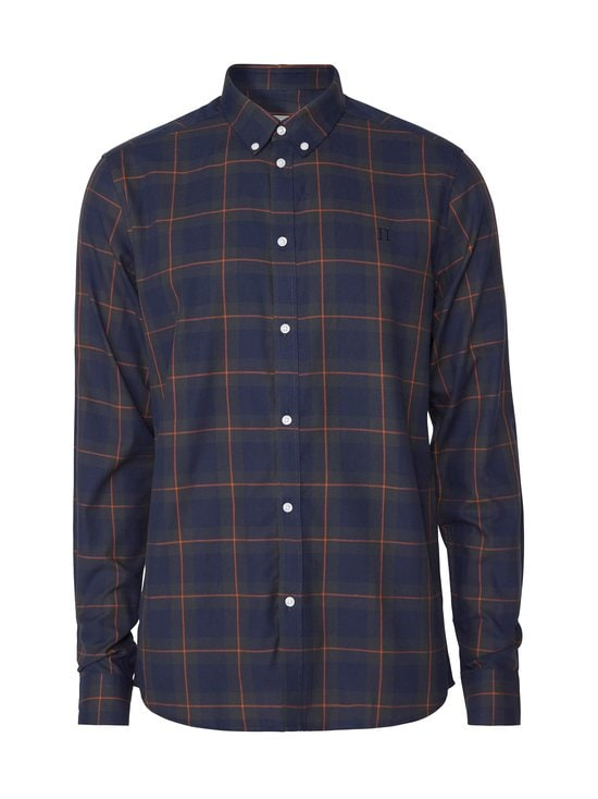 Les Deux - Hubert Check Flannel Shirt -flanellipaita - 460505-DARK NAVY/DEEP FORREST | Stockmann - photo 1
