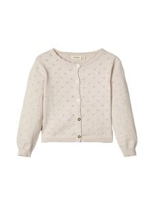 Lil' Atelier - NmfGliva Short Knit Cardigan -neuletakki - CRYSTAL GRAY | Stockmann