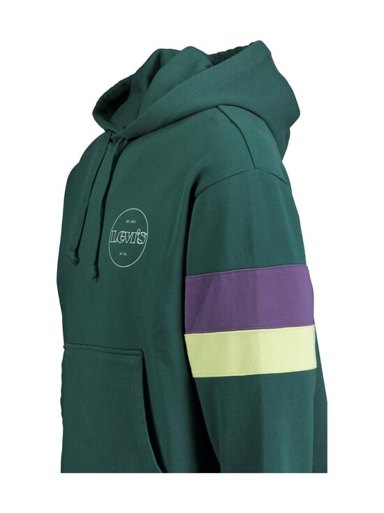 Levi's - Hoodie Block Color -huppari - 0004 FOREST GREEN | Stockmann - photo 3