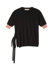 MARNI - Cotton Knit With Bow Side Opening -puuvillaneule - MLN99 BLACK   Stockmann