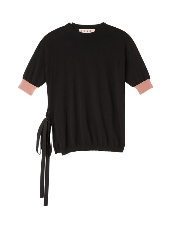 MARNI - Cotton Knit With Bow Side Opening -puuvillaneule - MLN99 BLACK   Stockmann - photo 1