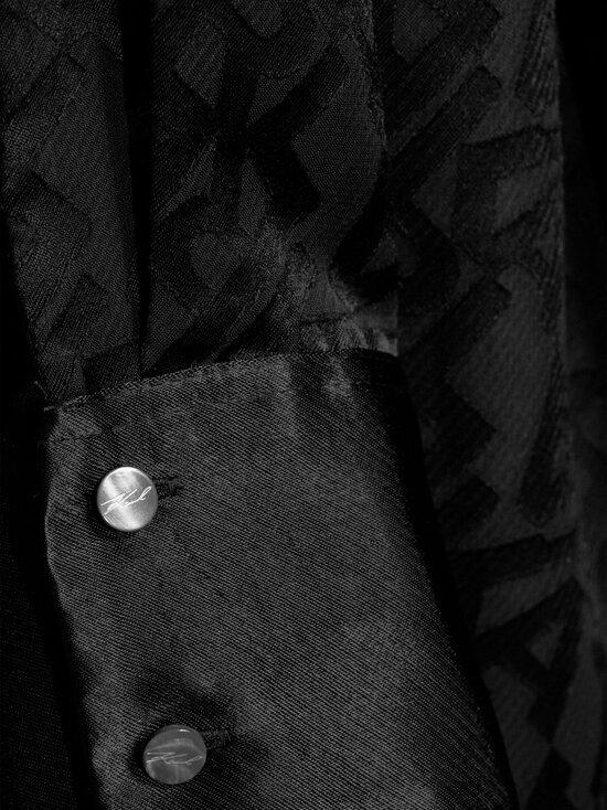 Karl Lagerfeld - Burn Out Logo Satin Dress -mekko - 999 BLACK | Stockmann - photo 4