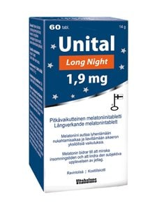 Vitabalans - Unital Long Night -melatoniinitabletti 1,9 mg 60 tabl./14 g - null | Stockmann