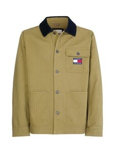 Tommy Jeans - TJM Badge Worker Jacket -takki - L8Q UNIFORM OLIVE | Stockmann