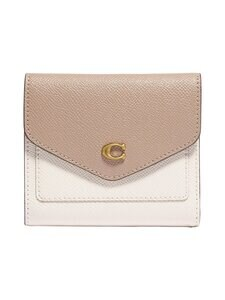 Coach - Wyn Small Wallet In Colorblock -nahkalompakko - B4/CHALK TAUPE MULTI | Stockmann