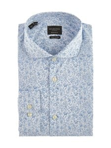 Selected - SlhRegSel-Hart-kauluspaita - WHITE AOP:BLUE | Stockmann