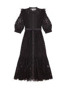 Self-Portrait - Black Lace Midi Dress -mekko - BLACK   Stockmann