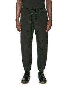 MARCELO BURLON - Patch Washed Nylon Jogging -housut - 1010 BLACK BLACK | Stockmann
