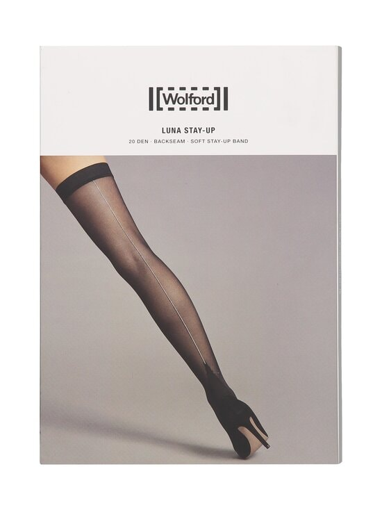 Wolford - Luna-stay-up-sukat 20 den - 8771 BLACK/RED | Stockmann - photo 1