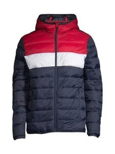 Jack & Jones - JjeMagic Puffer Hood -toppatakki - TANGO RED DETAIL:BLOCKING | Stockmann