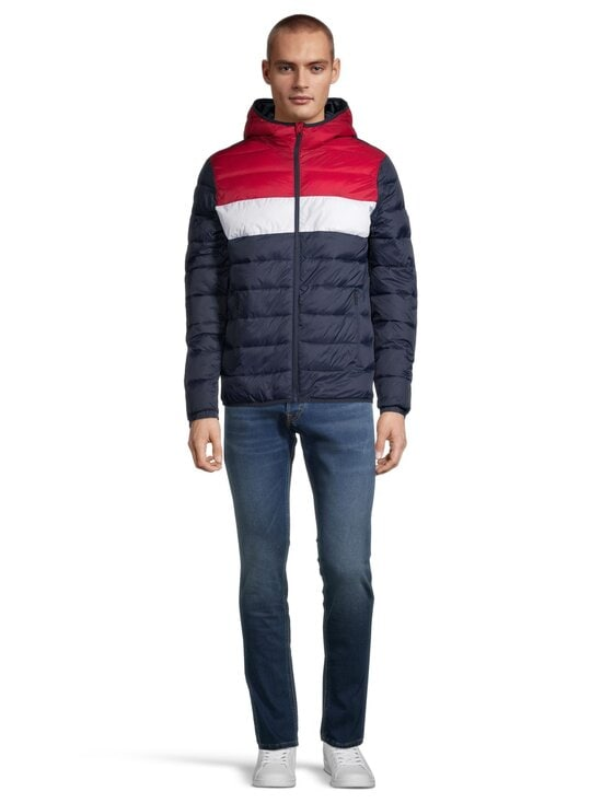 Jack & Jones - JjeMagic Puffer Hood -toppatakki - TANGO RED DETAIL:BLOCKING | Stockmann - photo 2
