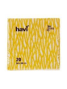 Havi - Servetti 24 x 24 cm, 20 kpl - KELTAINEN | Stockmann