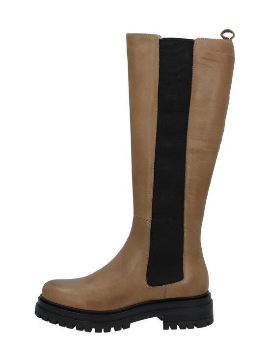 BIANCO - Biadarlene Chelsea Long Boot -nahkasaappaat - 266 BEIGE 6   Stockmann - photo 1