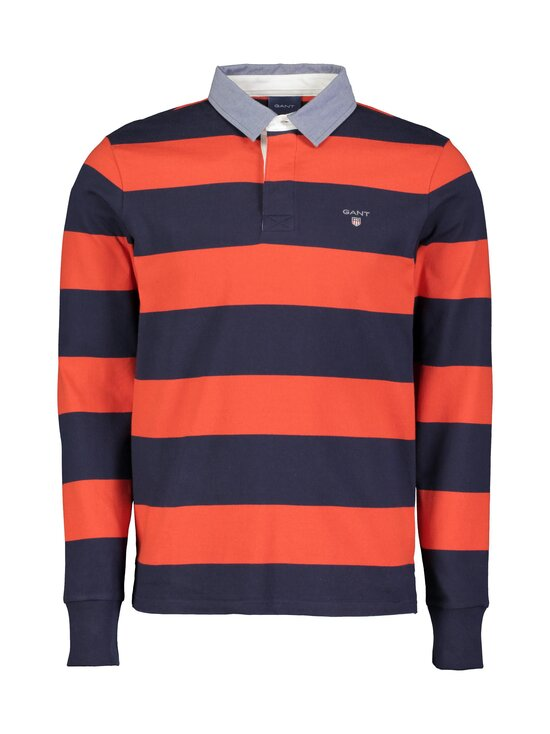 GANT - Original Barstripe Heavy Rugger -paita - 667 LAVA RED | Stockmann - photo 1