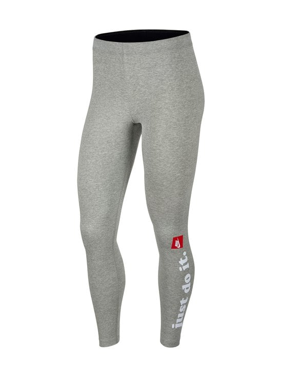 Nike - W Sportswear Club -leggingsit - 063 DK GREY HEATHER/WHITE | Stockmann - photo 1