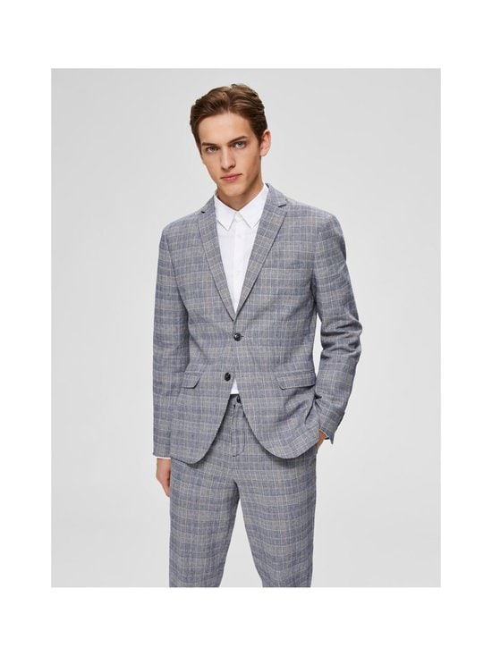 Selected - SlhSlim-Will -bleiseri - DARK BLUE CHECKS:BLUE/SAND | Stockmann - photo 2